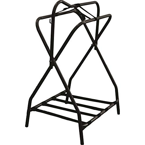 Partrade P-Western Saddle Rack- Black 19 X 36 X 25 in