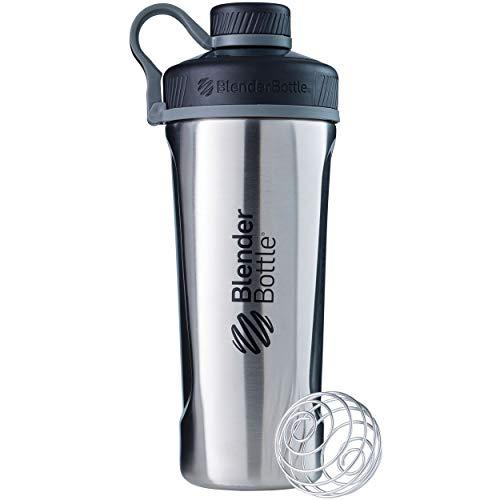 BlenderBottle Radian Insulated Stainless Steel Shaker Bottle, Natural/Black, 26-Ounce (Sport Mixer)