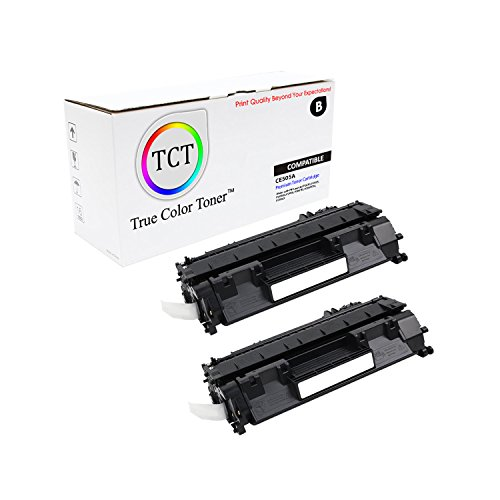 TCT Premium Compatible CE505A Black Toner Cartridge 2 Pack for the HP 05A series - 2,300 yield- works with the HP LaserJet P2030, P2035, P2035N, P2050, P2055D, P2055DN, P2055X printer (Laserjet 2300 Series Yield)