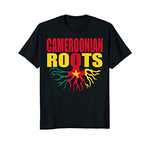 Mens Storecastle: Cameroonian Roots Cameroon Flag Pride T-Shirt 2XL Black