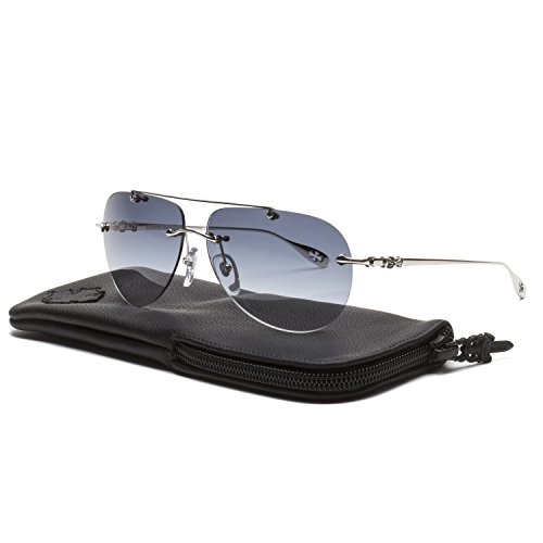2a696d6885b1 Chrome Hearts Stains V Sunglasses SS Shiny Silver   Cobalt Blue Gradient  Lens - Buy Online in UAE.