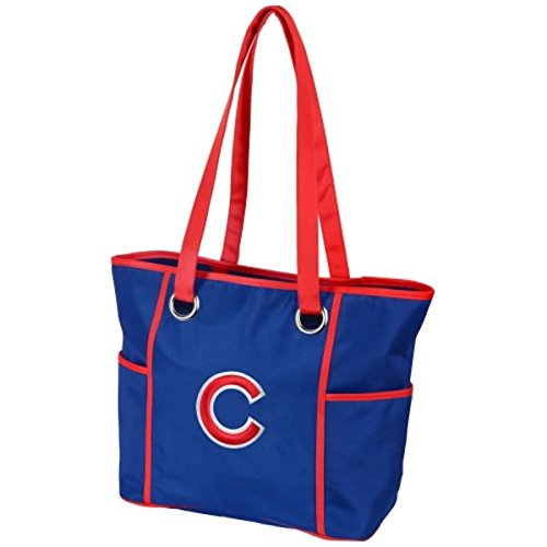 Mlb Chicago Cubs Baseball Purse - MLB Chicago Cubs Deluxe Tote Bag with Embroidered Logo