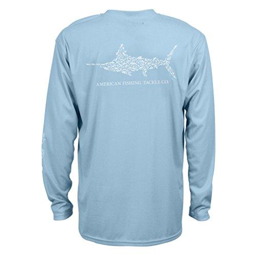 (AFTCO Men's Jigfish Performance Long Sleeve Shirt - Sky -)