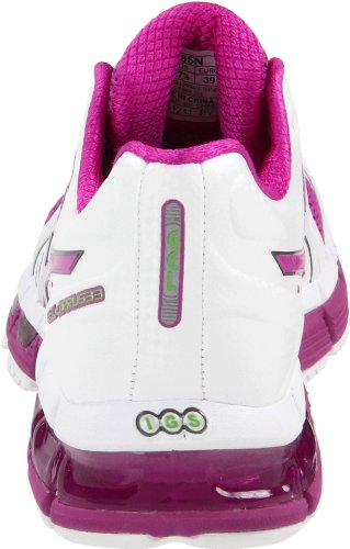 Asics Vrouwen Gel-cirrus33 Sportschoen Wit / Elektrische Violet / Lime