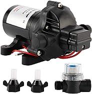 Yaegoo RV Water Pump DC12V 3.0GPM 45PSI Water Diaphragm Self Priming Pump, Water Pressure Diaphragm Pump for C
