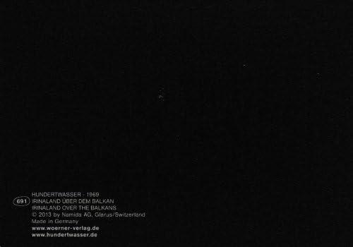 Kunstkarte HundertwasserIrinaland /über dem Balkan