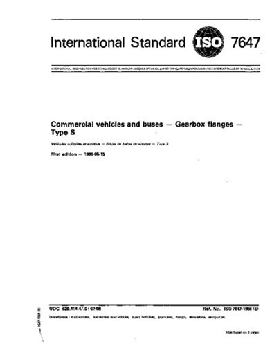 ISO 7647:1986, Commercial vehicles and buses - Gearbox flanges - Type S ()