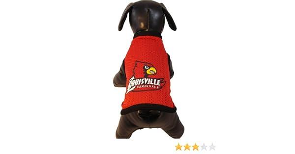 NCAA Louisville Cardinals Athletic Mesh Dog Jersey