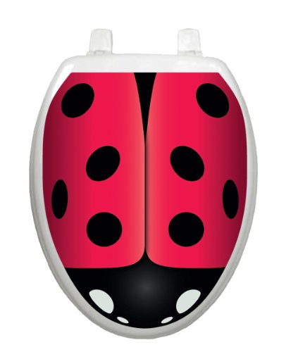 Ladybug TT-1106-O Elongated Whimsical Insect Cover Bathroom by Toilet Tattoo