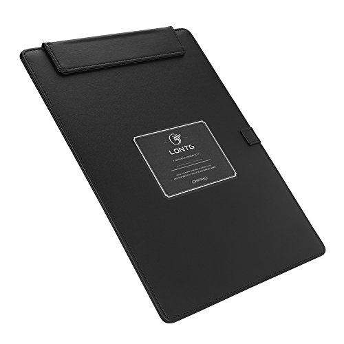 Clipboard PU Leather A4 A5 Conference Pad Padfolio Writing Pad Office Business Clipboard File Organizer Clip Folder Magnetic Hardboard with Pen Holder Loop