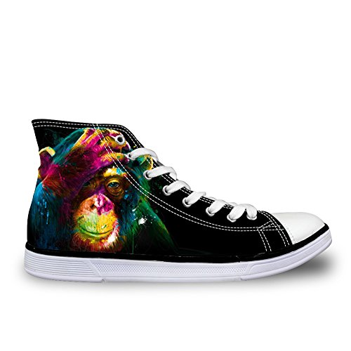 For U Diseños 3d Zoo Animals Pattern Flats Sneakers For Hombres Canvas Zapatos C3987ak