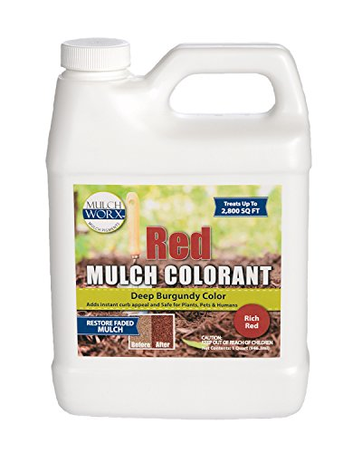MulchWorx Red Mulch Color Concentrate - 2,800 Sq. Ft. - Deep Burgundy Red Mulch Dye ()