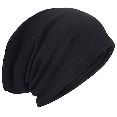 Beanie Mens Casual Hats - Men Slouch Hollow Beanie Thin Summer Cap Skullcap B011h (Black)