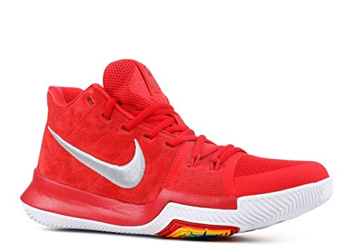 new styles 09cea a3238 Galleon - NIKE Kyrie 3 Basketball Shoes Kyrie Irving Mens University Red Grey White  New 852395-601 - 10