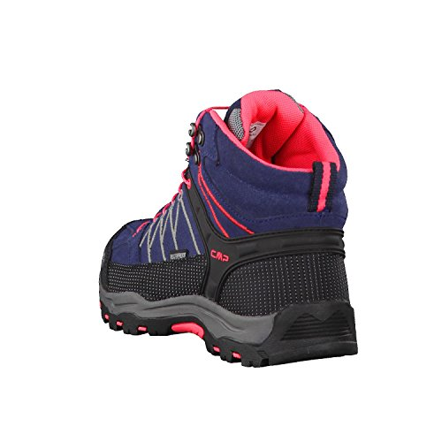 C.P.M. Rigel - Zapatillas de senderismo Unisex adulto Antracite-Red Fluo