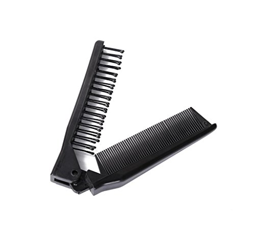 LOUISE MAELYS Portable Travel Folding Hair Brush Compact Pocket Hair Comb Double Headed Anti-static Comb
