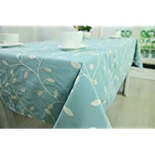 CJ Fashion Blue Christmas Table Runner Burlap Tablecloth For Outdoor Wedding