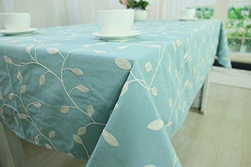 CJ Fashion Blue Christmas Table Runner Burlap Tablecloth For