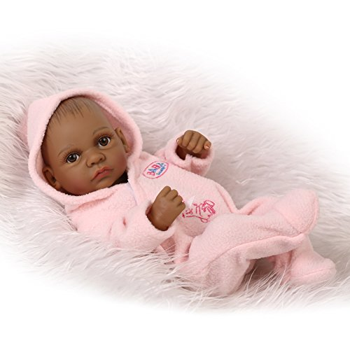 NPK Collection Full Silicone Reborn Baby Doll African American 10inch 27cm Black Boy Doll Babies Ethnic Alive Dolls Collectible Toy