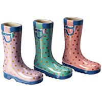 Spring Colored Rain Boot Vases, Set of 3