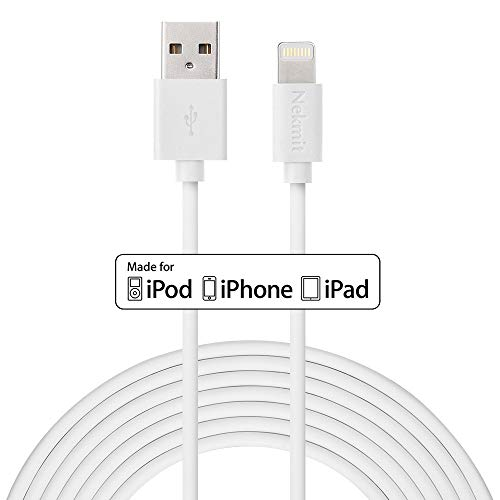 Nekmit Lightning Cable , Apple MFi Certified iPhone Charger 10 feet for iPhone, iPad and More