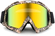 Motorcycle Motocross Goggles Windproof ATV Dirt Bike Riding Ski Anti-Fog Glasses