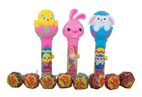 (Spring Bunnies and Chicks Pop Ups Lollipop Case with Chupa Chups Lollipops, 1.26 oz, Pack of 6)