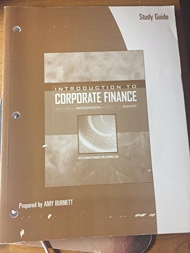 Study Guide for Megginson/Smart's Introduction to Corporate Finance
