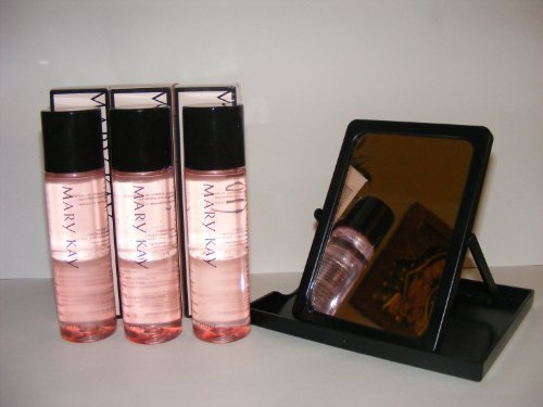 Lot of 3 Mary Kay Oil Free Eye Makeup Remover + Free Mary Kay Mirror