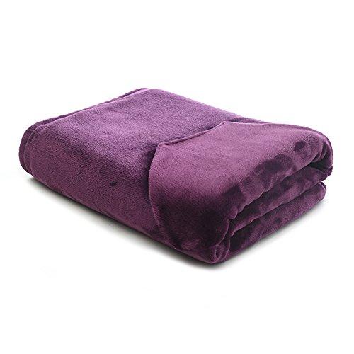 GX&XD Electric throw,Heated blanket Knee blanket Electric heating mat Warm blanket office Cushion Warm pad Plush heated throw-B 100x80cm(39x31inch) by GX&XD
