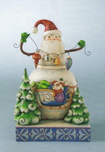Amazon Com Jim Shore Frosty Santa Snowman Figurine Home Kitchen