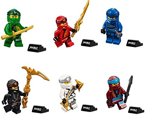 Action Golden Ninjago Minifigures Cole Lloyd Nya Zane Kai Motorcycle fits Lego