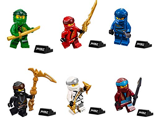 LEGO Ninjago Legacy Minifigure Combo Pack - Lloyd, Jay, Kai, Cole, Zane, NYA (with Weapons and Display Stand) ()