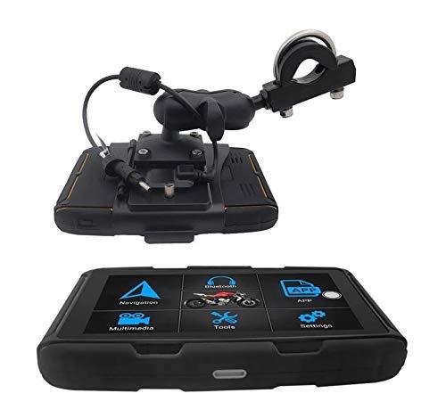 5 Zoll Bildschirm Android 6.0 Navigation f/ür Motorrad und Auto Elebest Navigationsger/ät Rider A6 Pro Bluetooth W-LAN Wasserdicht 32 GB Speicher