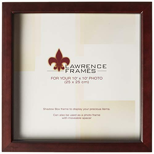Lawrence Frames 795110 Espresso Wood Treasure Box Shadow Box Picture Frame, 10 by ()