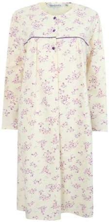 Slenderella Floral Print Round Neck Flannel Nightdress