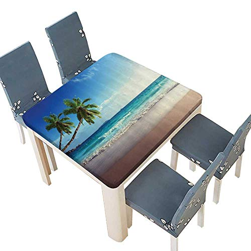 - PINAFORE 100% Polyester Luxury Tablecloth Tropical Island ery Wave ACH amp Photos The Ctemporary Art Resistant and Waterproof Tablecloths 41 x 41 INCH (Elastic Edge)
