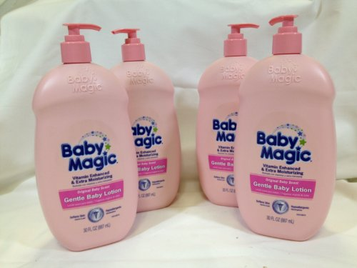 Baby Magic Gentle Baby Lotion, Original Baby Scent 30 oz. (Pack of 4)