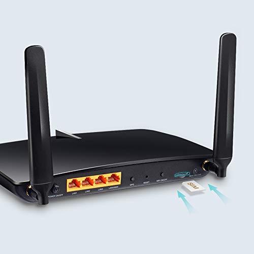 TP-Link Archer MR600 - Router 4G LTE CAT6, WiFi AC 1200Mbps, Alternativas para ADSL, Compatible con Todos los operadores, límite del Consumo del dato