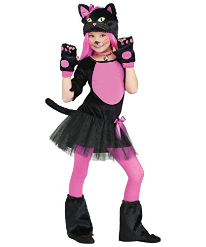 [Sweet Miss Kitty Girls Costume Deluxe (4-6)] (Kids Cat Costume Face Paint)