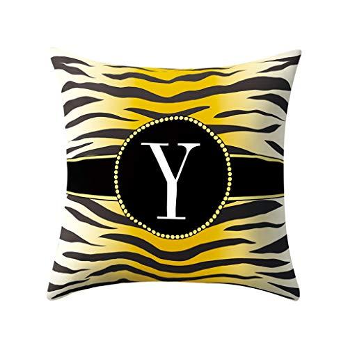 AOJIAN Home Decor Cushion Cover, Alphabet Printed Decorative Throw Pillow Covers Protectors Bolster Case Pillowslip