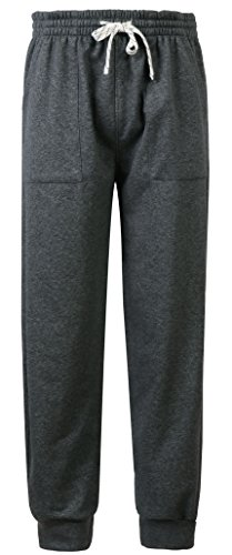 Fanhang Casaul Cotton Sweat Pants with 3 Pockets for Men Women