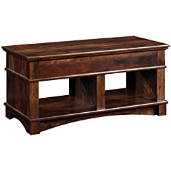 "Sauder 422269 Lift Top Coffee Table, 43.15"" L X 19.5"" W x 24.33"" H, Curado Cherry"