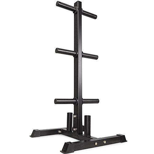 Titan Fitness Olympic 2'' Weight Plate Rack Tree & Barbell Holder Organizer Stand by Titan Fitness