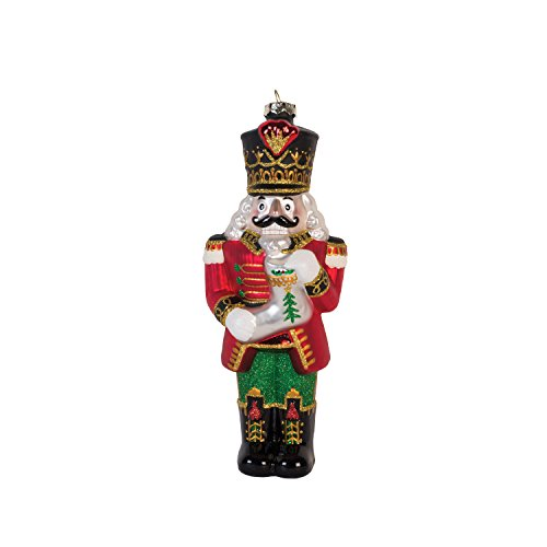 Fitz and Floyd Coleen Christian Burke Kennedy Ornament, Nutcracker with Stocking Glass ()