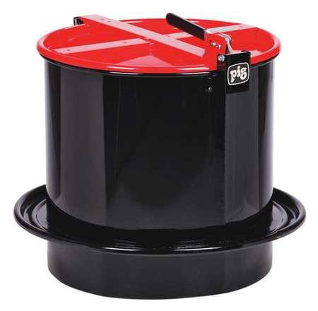 Drum Funnel, Steel, 18-1/4 in. H, Red