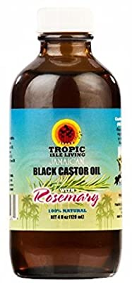 Tropic Isle Living Jamaican Black Castor Oil with Rosemary, 4 oz