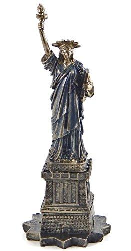 Bellaa 23910 Statue of Liberty Statue Cold Cast Bronze Resin 12