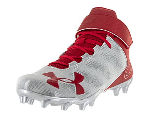 Under Armour Men's UA C1N Mid MC Red/Msv Football Cleat 9 Men US