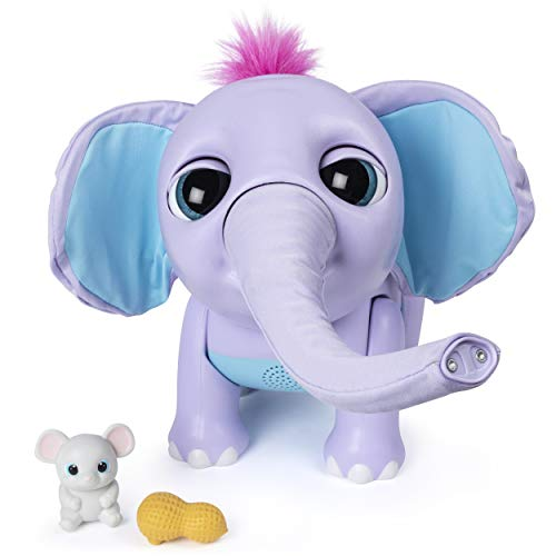 41gjmkKDQ4L - Wildluvs Juno My Baby Elephant with Interactive Moving Trunk & Over 150 Sounds & Movements